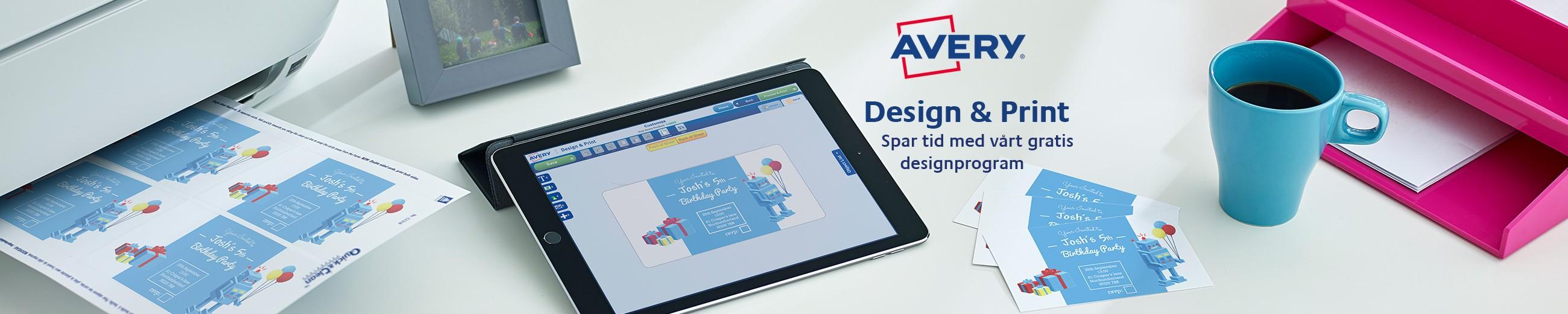 Etiketter til alle formal avery for Design and print avery